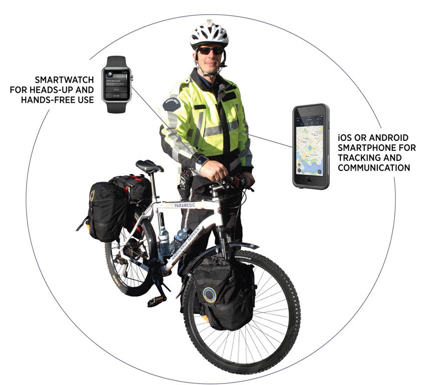 Bicycle EMS Smartwatch Communicator V2